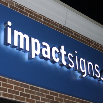 Lighted Outdoor Signs For Business Exterior outdoor lighted signs impact signs like the backlit option above these signs also have an acrylic translucent illuminated face in addition to the halo backlighting for a bright workwithnaturefo